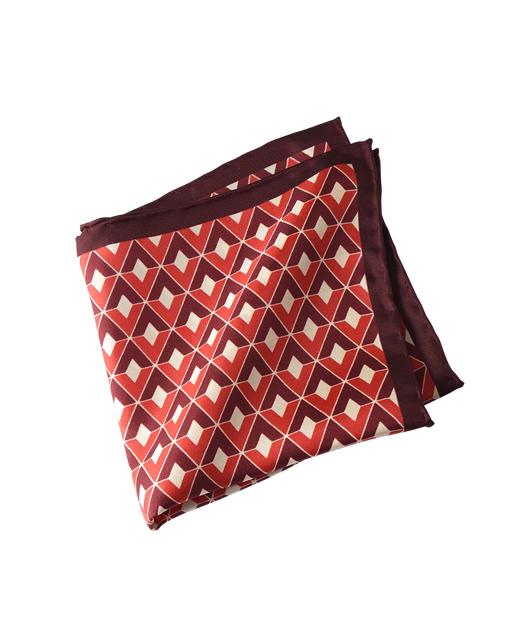 棉蚕丝口袋方巾