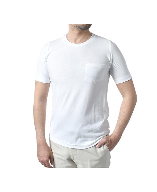 强拧圆领T衬衫