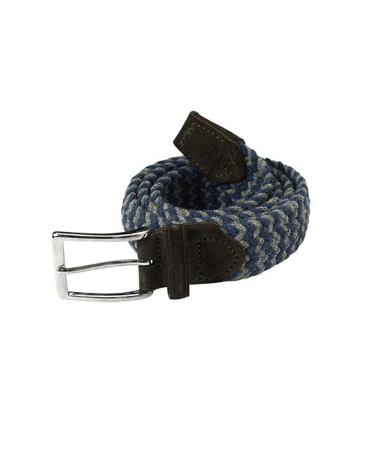 小牛皮编织皮带