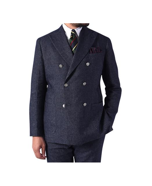 意大利羊毛亚麻混纺西装