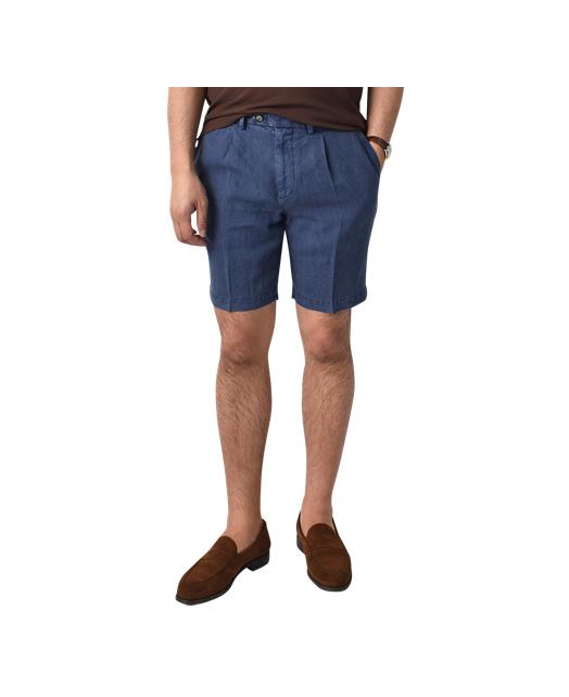 高级亚麻短裤