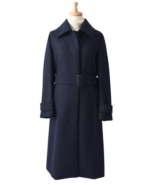 羊毛立领大衣