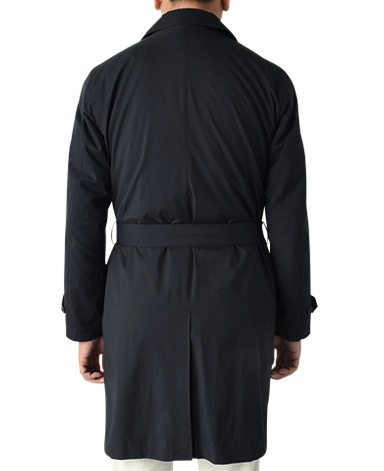 高密度拨水羊绒大衣