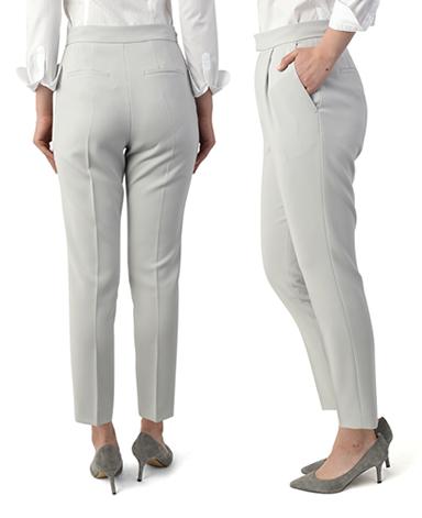 单褶休闲裤