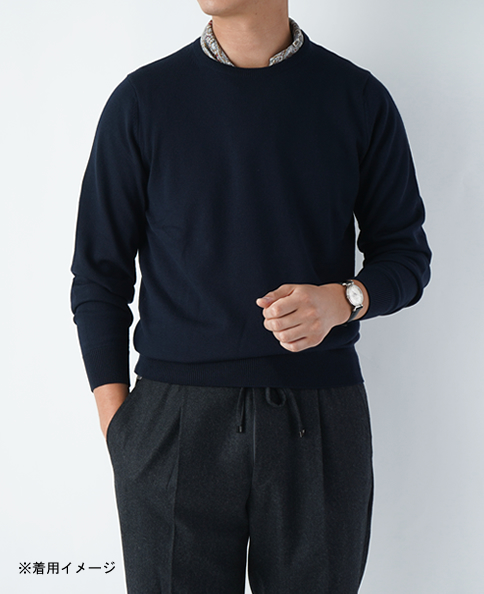 圆领羊毛针织衫