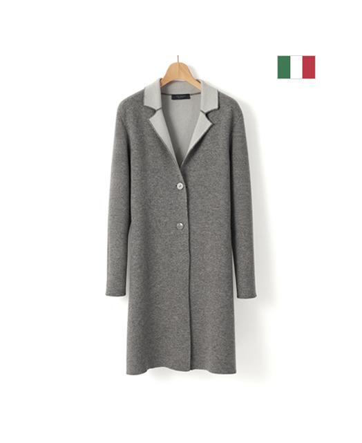 意大利双面长款开衫