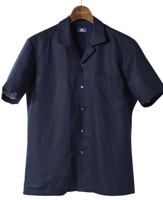 短袖亚麻衬衫