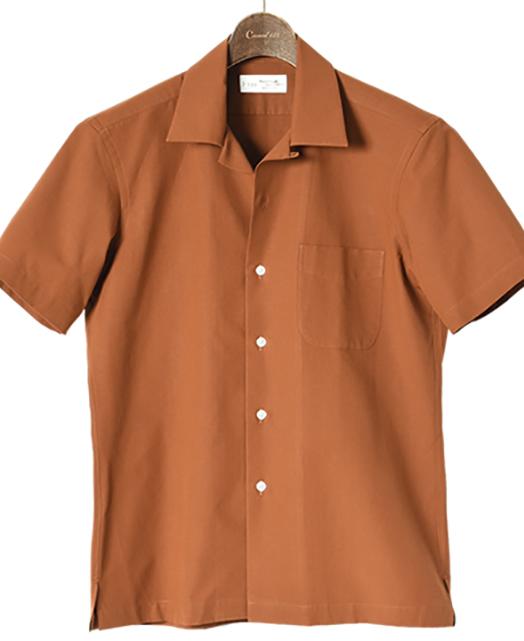 开领短袖衬衫